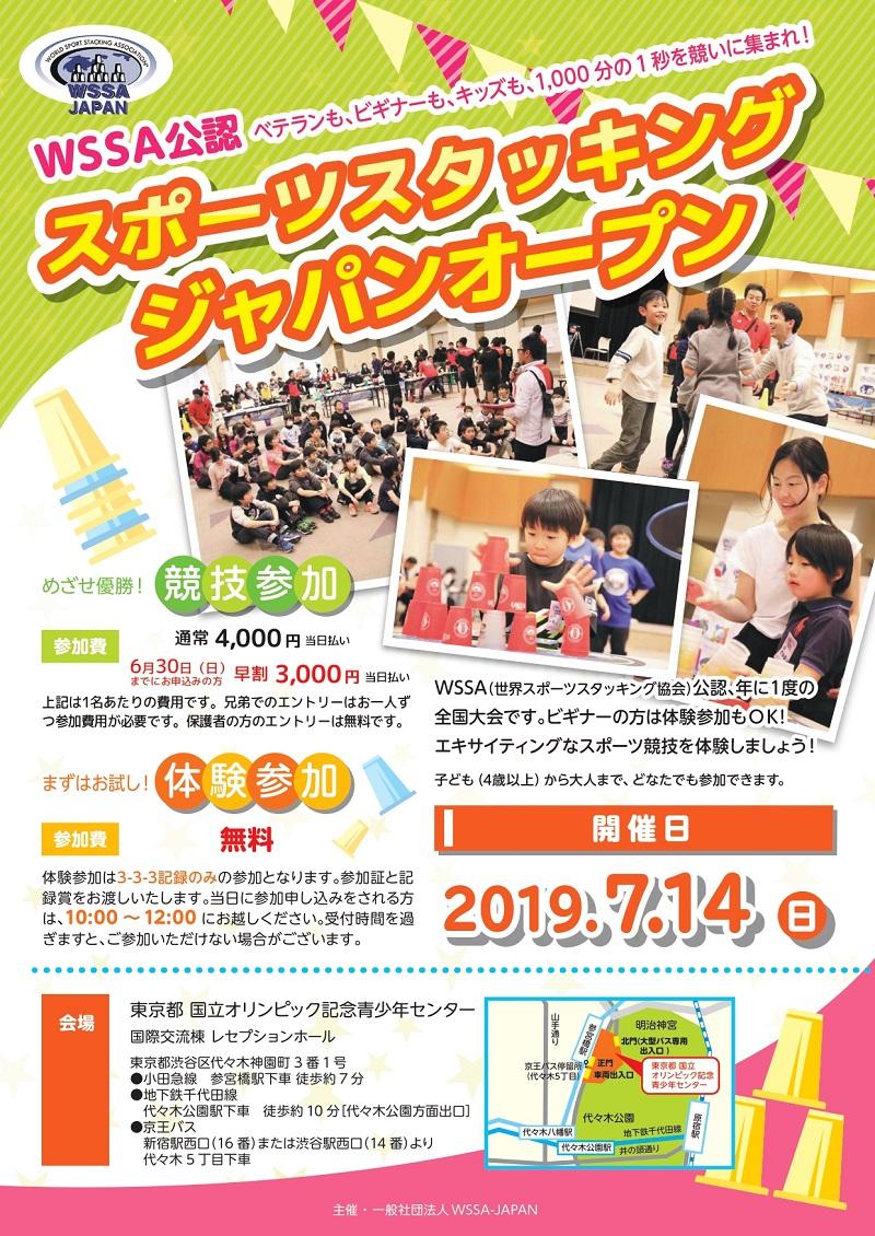 スポーツスタッキング ジャパンオープン(2019年)表面